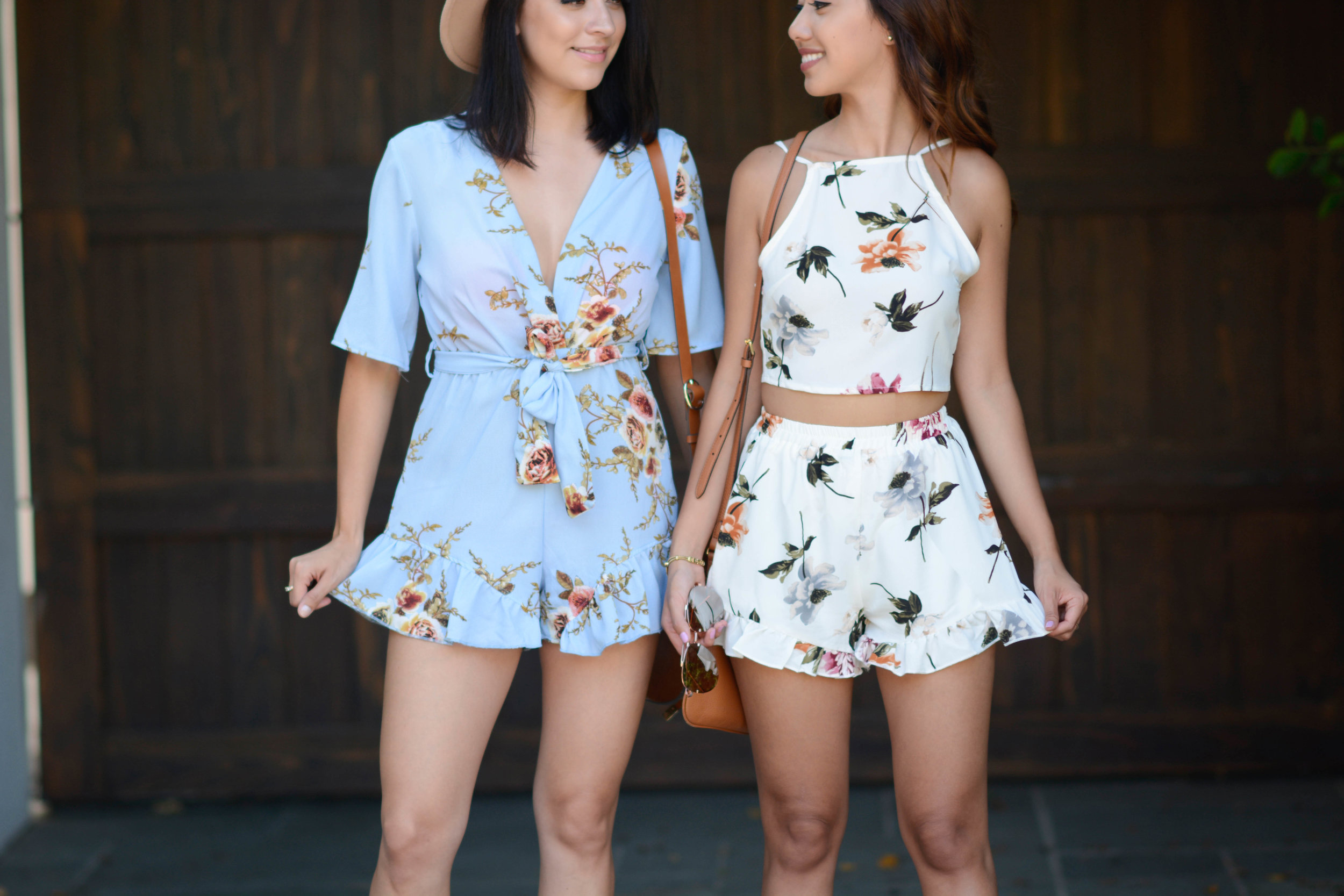 Feeling pretty in our ruffles & floral print.