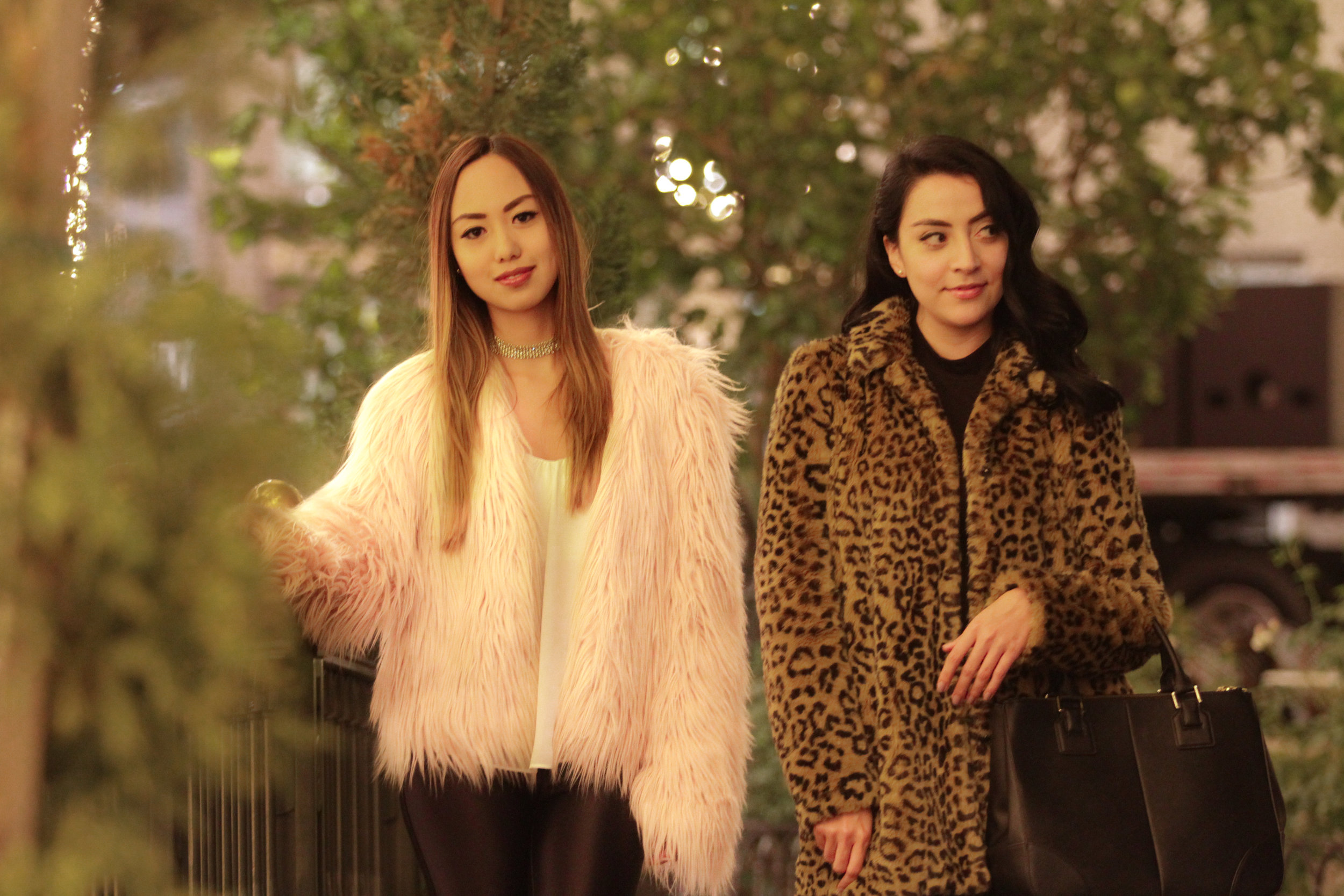 A little funny story about these coats...we both got these towards the end of winter last year, but never had the chance to wear them. However,this year, it was the first thing we took out as soon as it began to get colder out. We both knew that they would be staples and great statement pieces for the chilly season. We love our coats so much we'll show you how to style them in a later post for a day look.