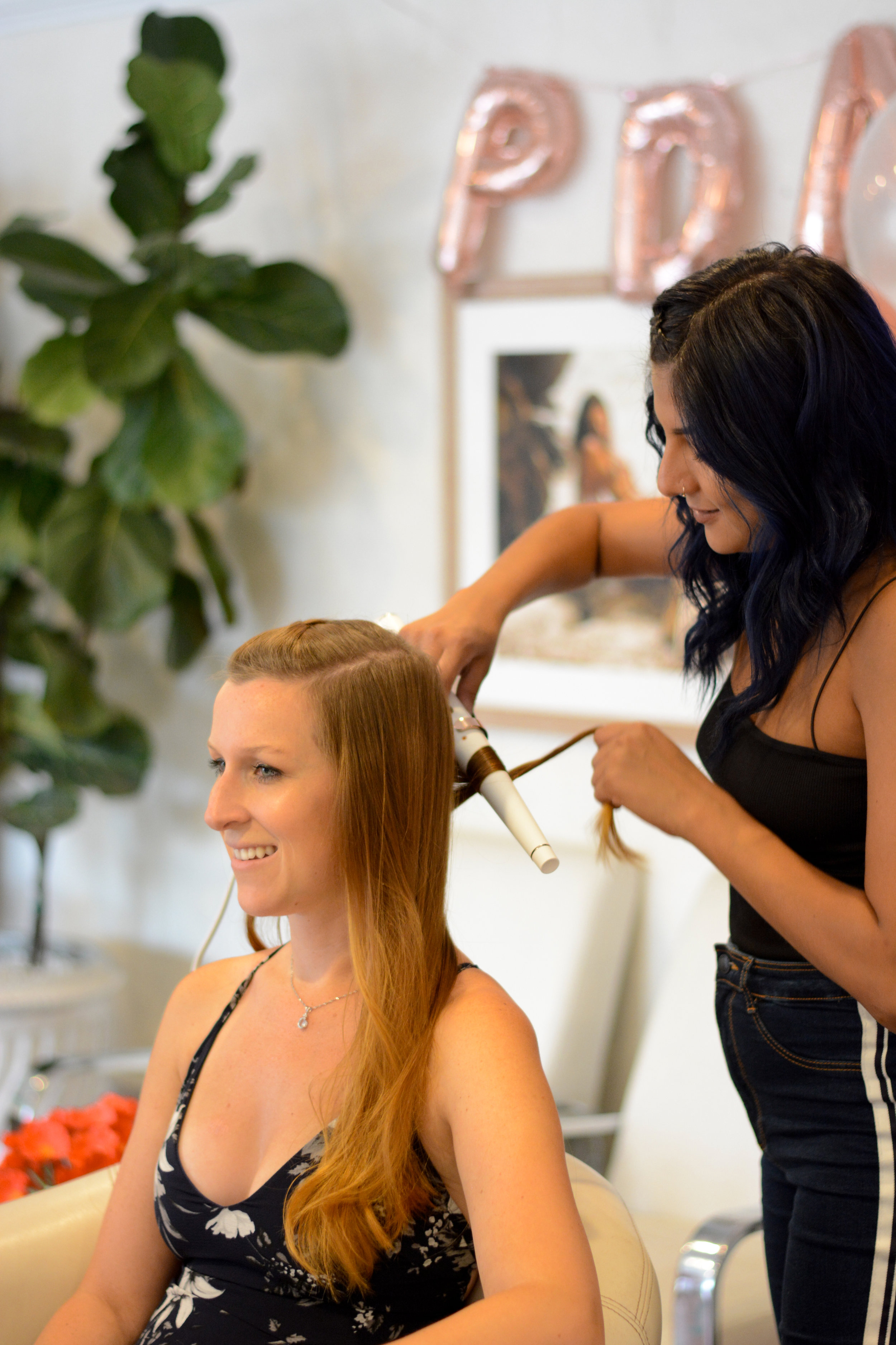 Our old and new friends made their way out to Malibu for a beauty day at  Glamifornia , where they got their hair styled at the braid bar with  Liz  and got makeup touch-ups by  Domenica !