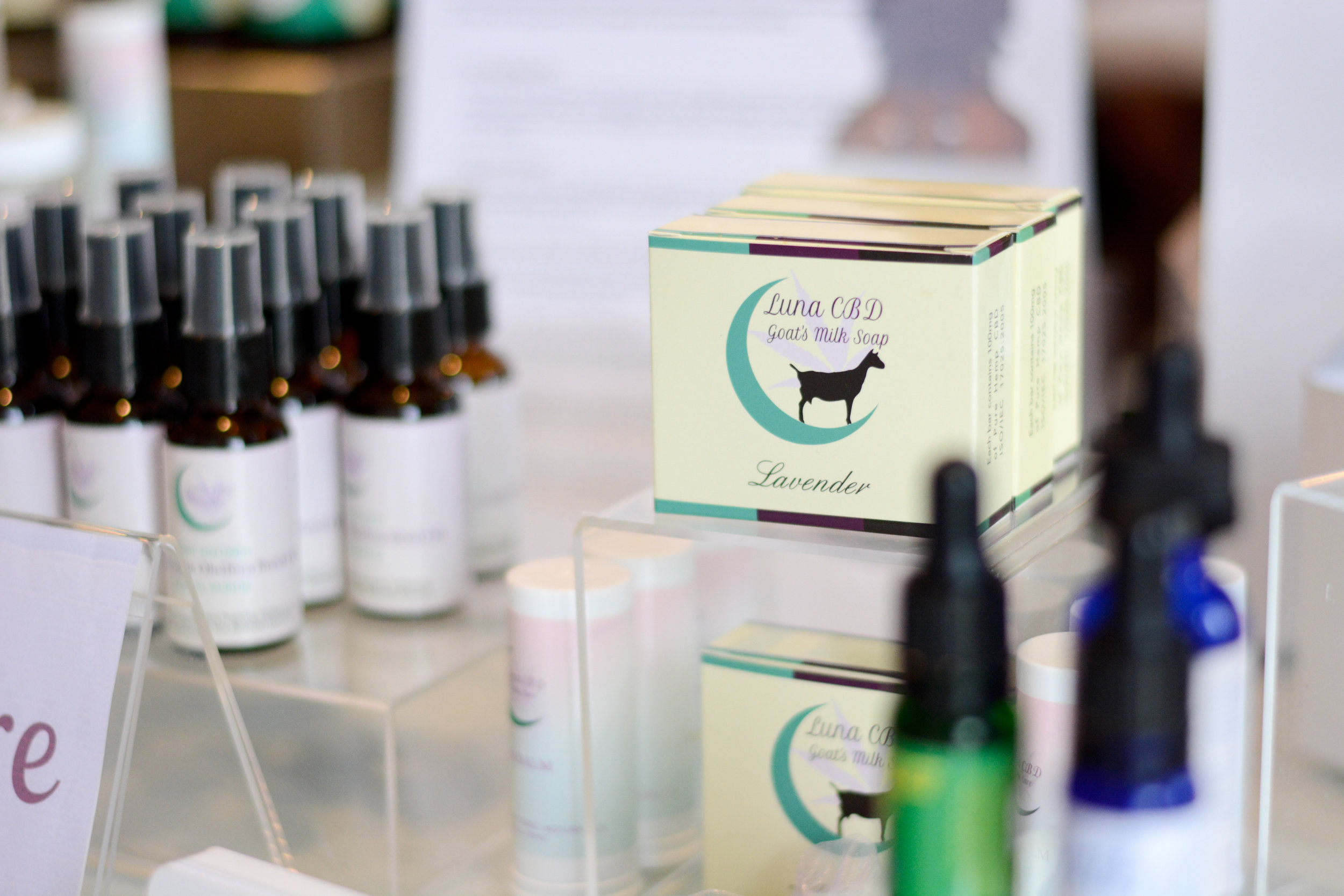 Another vendor that stopped is  Luna CBD Skin Care , with their collection of soothing plant based products.