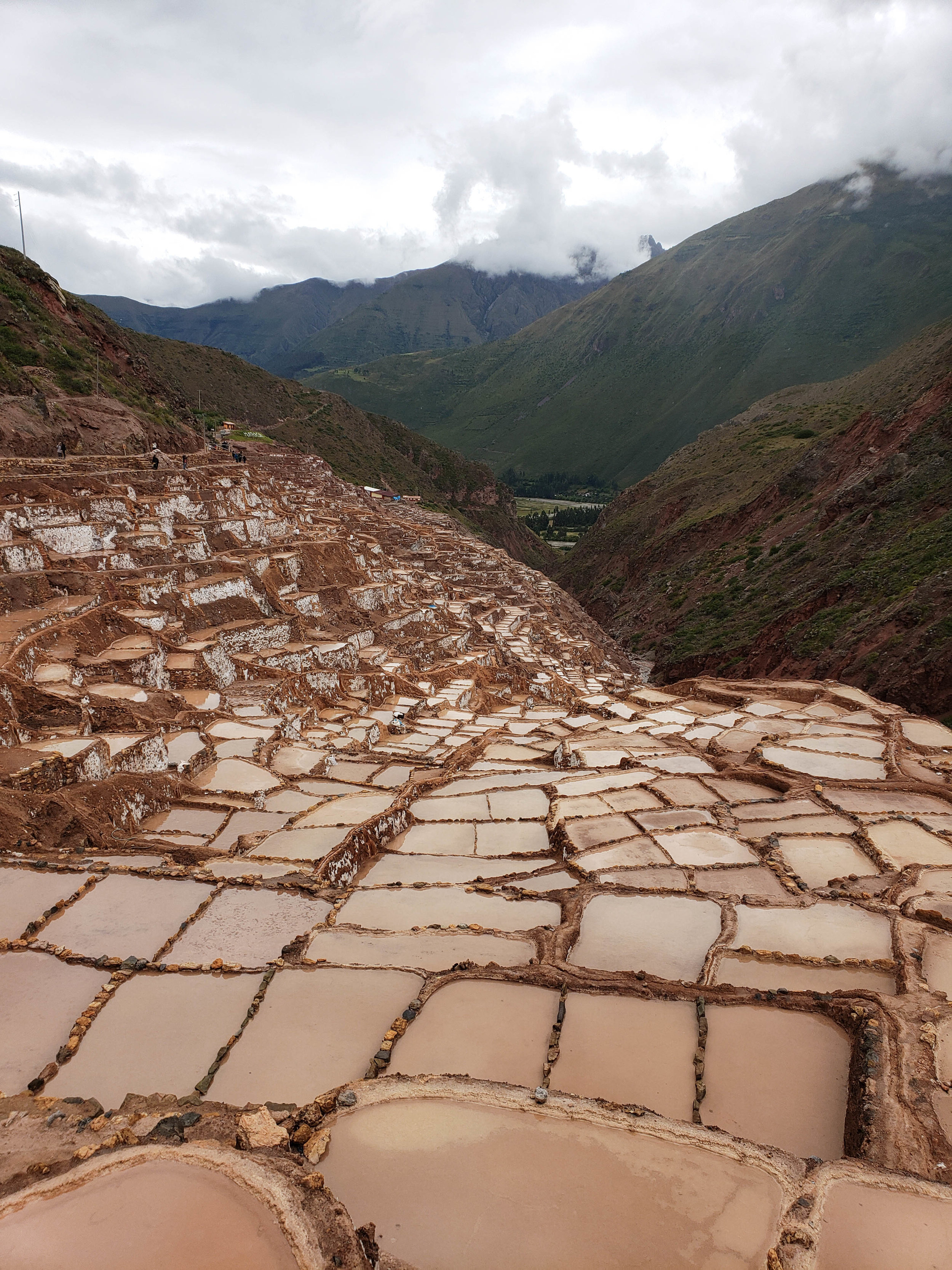 Another stop was Maras, known for its salt mines. We were there during April, which is the rainy season. Because of this, the mines looked brown since rain had carried down dirt to the ponds. I've been here once before when the mines were super white and it's beautiful! Make sure to buy salt from here, it gives a delicious flavor to food and you can only get it there.