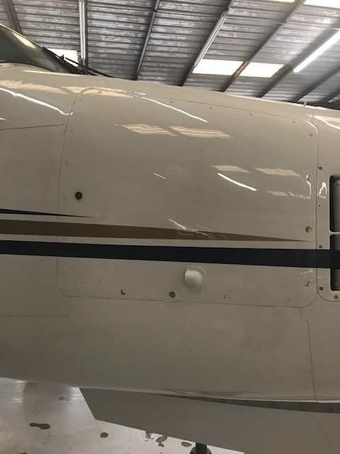 The screws in the avionics door look pretty bad, this can be solved with a stainless steel screw kit, it's a pretty good chunk of change, those fastners are expensive.