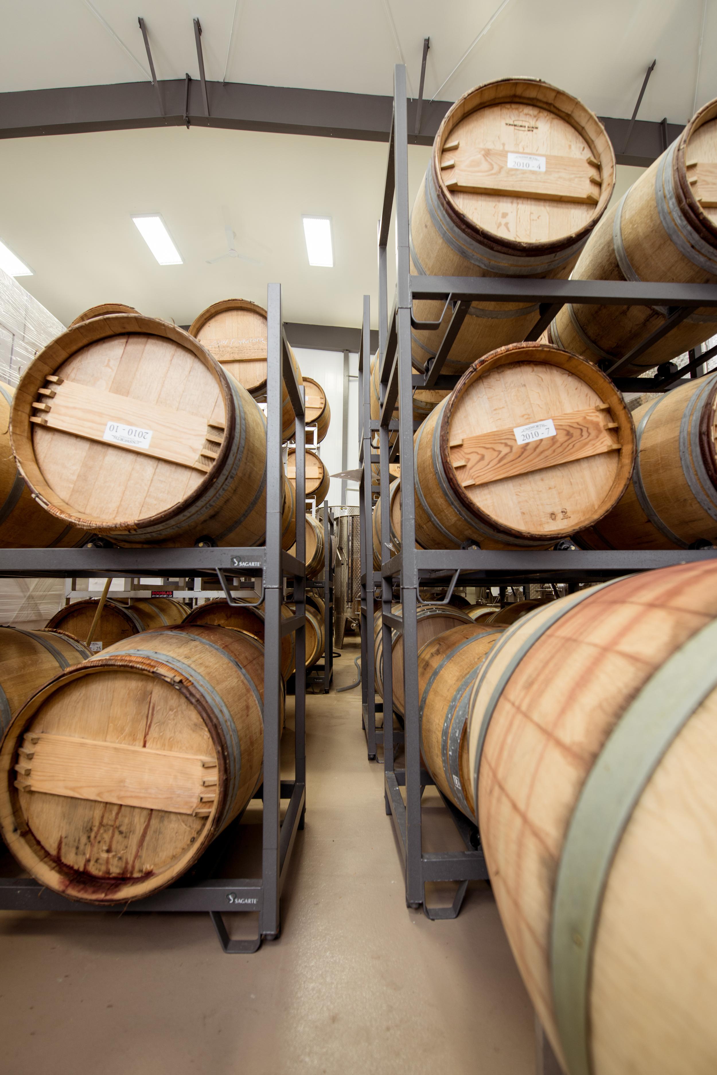 Unsworth Winery Barrels