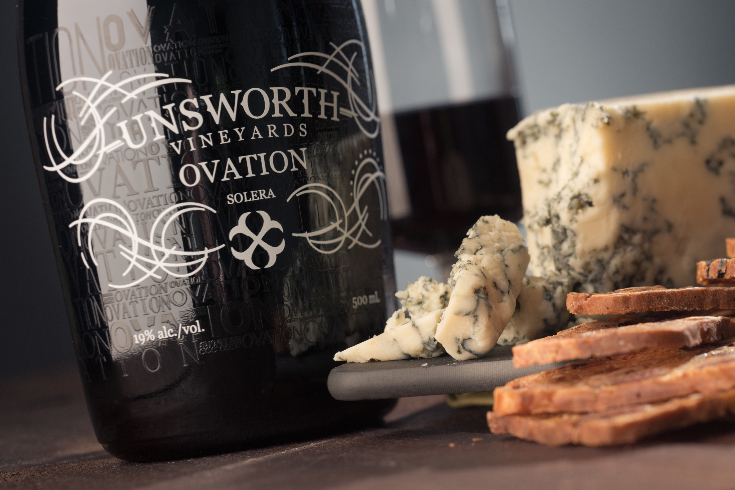 Unsworth Ovation Port Wine with Blue Cheese