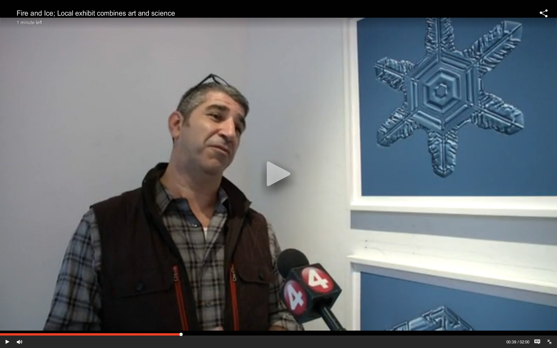 Frideman and Levere Interviewed by Andrew Baglini of News 4 Buffalo at CEPA Gallery