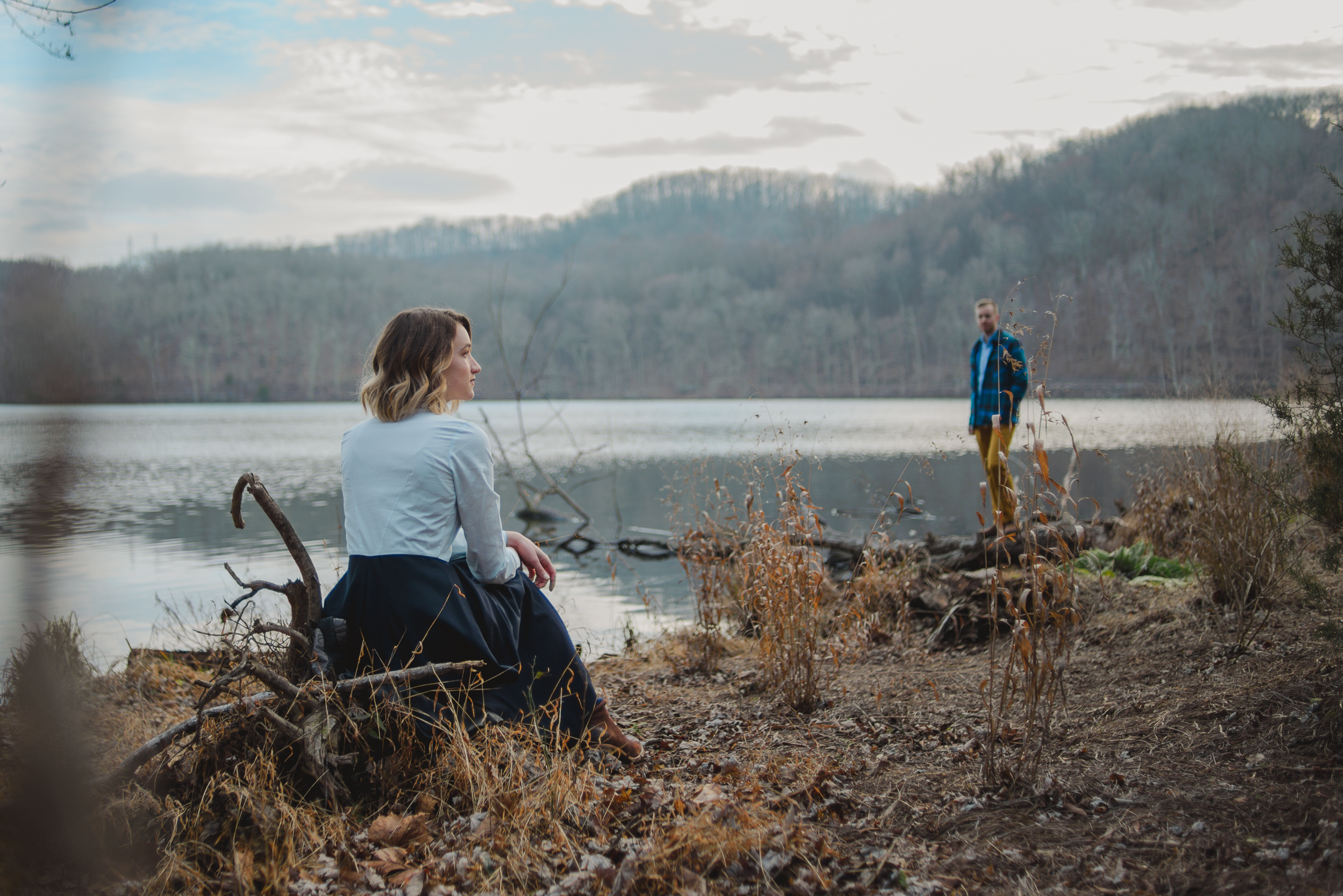 Emily & Tyler engagement session on Radnor Lake State Park, Nashville, TN.