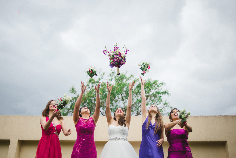 fotografo de bodas mexico - bridal party bridesmaids wedding photographer