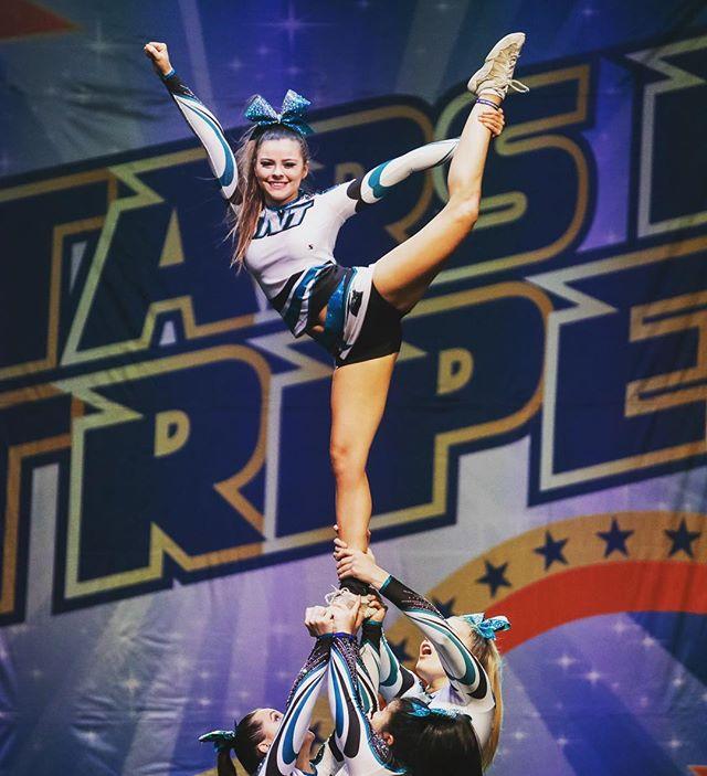 Boom! #cuastars #cheer #stunt #groupstunt #cheerleader