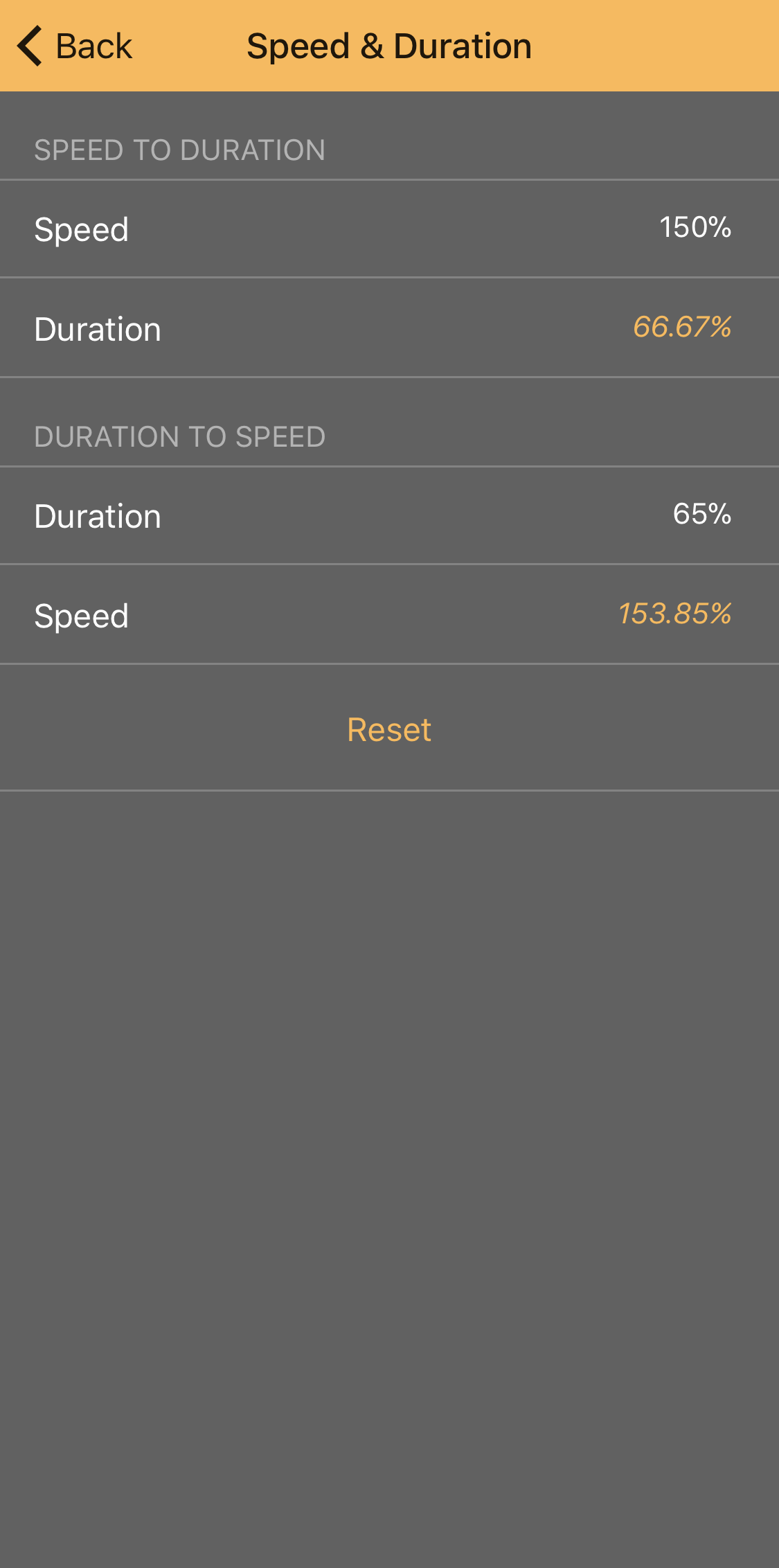 Speed & Duration - Some apps express speed changes as Speed, others use