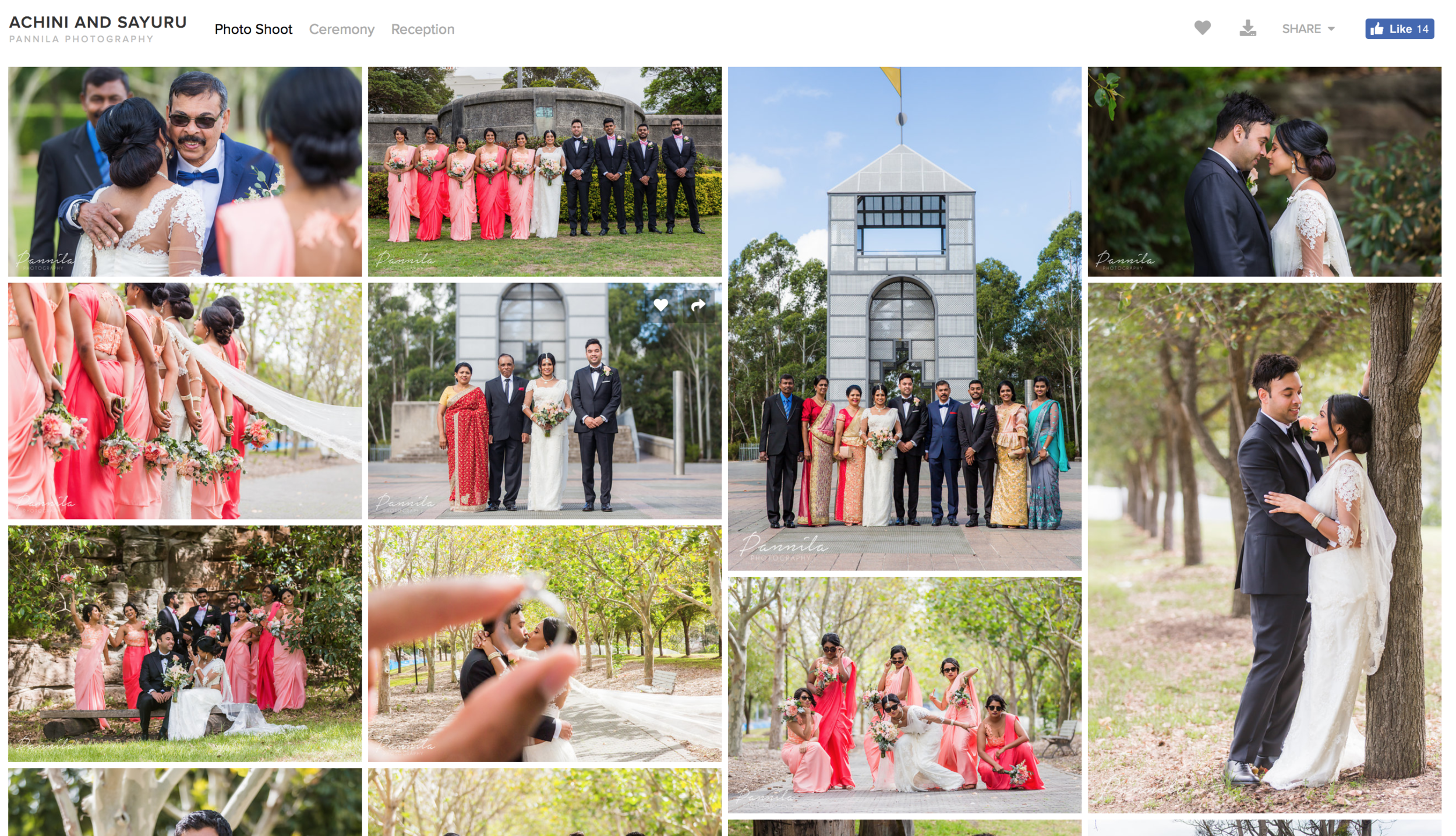 Online Web Gallery   Going overseas straight after your wedding and want to view your photos? We upload all of your wedding images online so you can view them from around the world.