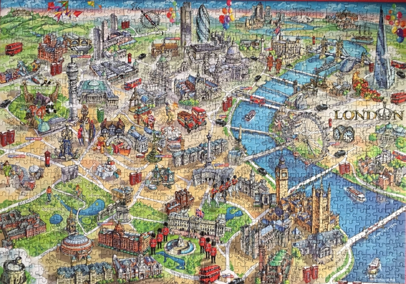 Gibson's 1000 piece London jigsaw.