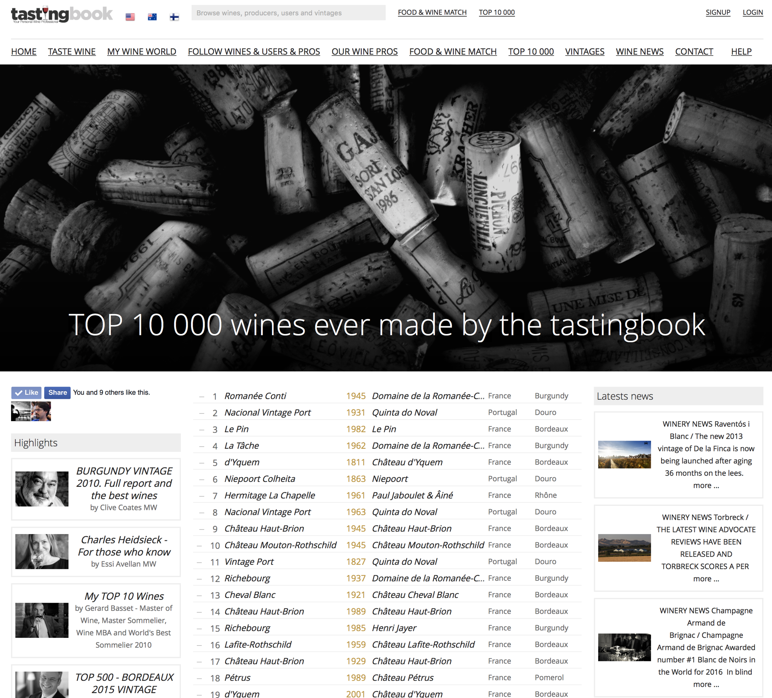 10 000 BEST WINES ever made