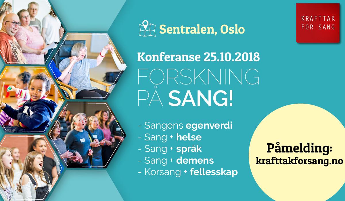Velkommen til en spennende konferanse av foredrag, sang, underholdning og paneldebatt på flotte Sentralen i Oslo!
