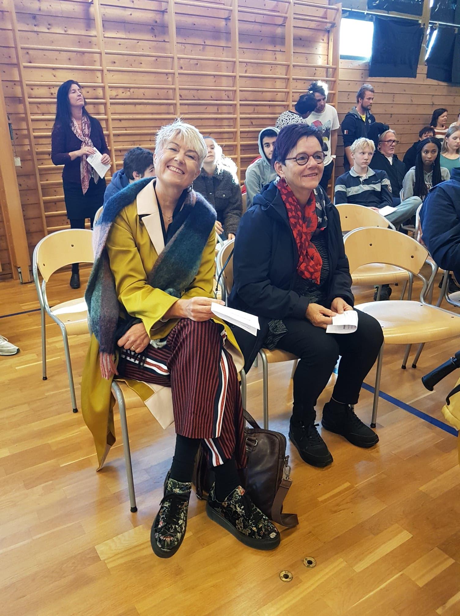 Heidi Hesselberg, kommunalsjef for kultur og velferdstjenester og Eva Tovsrud Knutsen, leder for Kongsberg musikkråd.