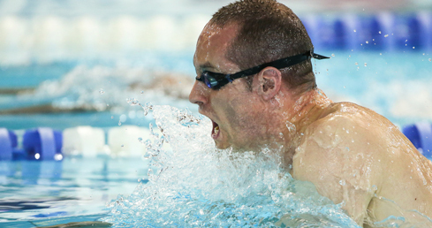 Dave Warren broke two GB records at the meet.
