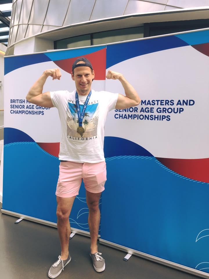 Enrico Hahn wins the mens 35-39200 Breast