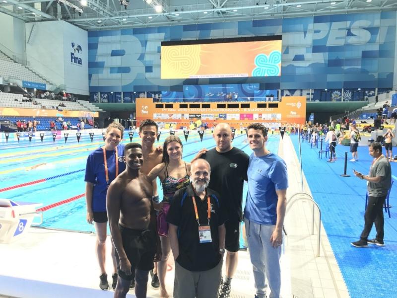 (left to right) Sarah-Jane, Dontony, Matt, Catherine, Coach Steve, Wade & Craig