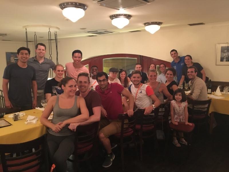 (left to right) Fraser, Graham, Martin, Hayley, Matt, Dave, Don, Alex, Wade, Catherine, Etienne, Matt, Camille, Alice, Jezz, Sarah-Jane, Olivier