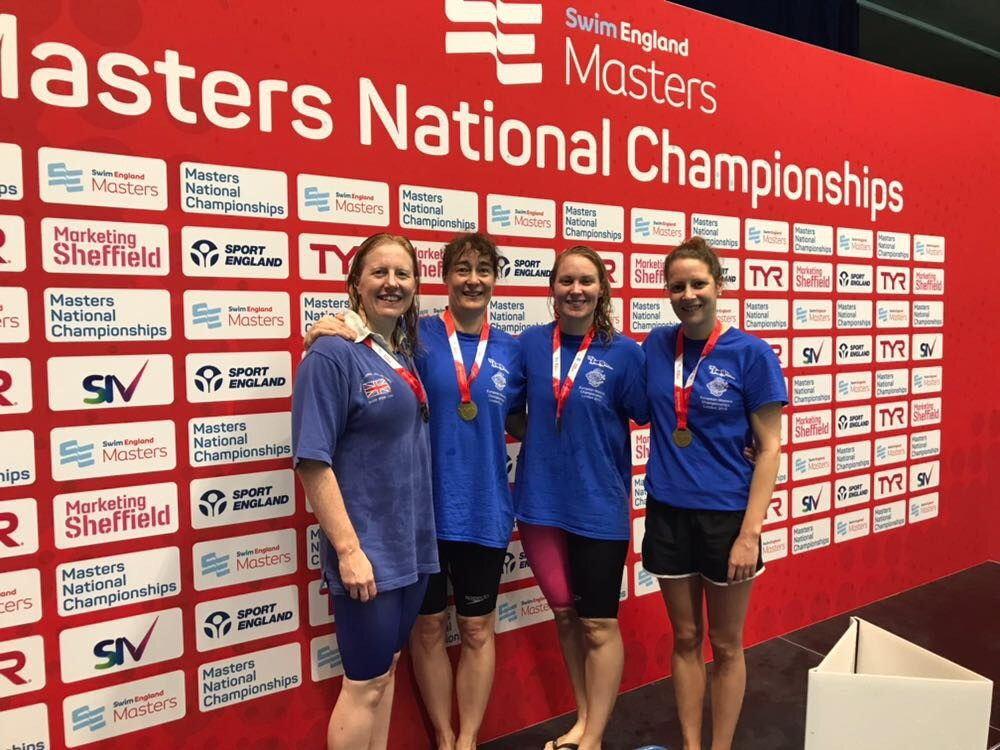 - Lastly, a huge congratulations goes out to the 160-199 Women's relay teams. In keeping with Otter tradition, the 4x100m Freestyle team, consisting of Emma Shkurka, Fiona Marshall Staines, Jane McMenemy & Gina Hobson, and the 4x100m Medley team, consisting of Hayley Davis, Finoa Marshall Staines, Gina Hobson & Jane McMenemy, both achieved British Records!