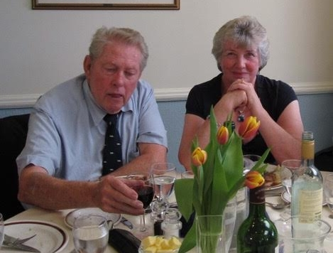 Bob, and wife Shiela at the Otter Golf, 2010