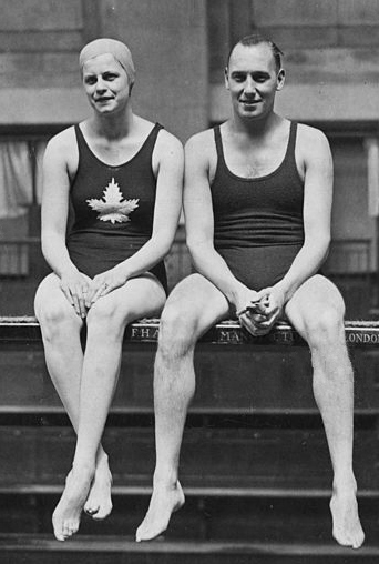 Irene Pirie and Freddie Milton at Marshal Street Baths in 1935 (By Unknown - Public Domain,  https://commons.wikimedia.org/w/index.php?curid=69762879 )