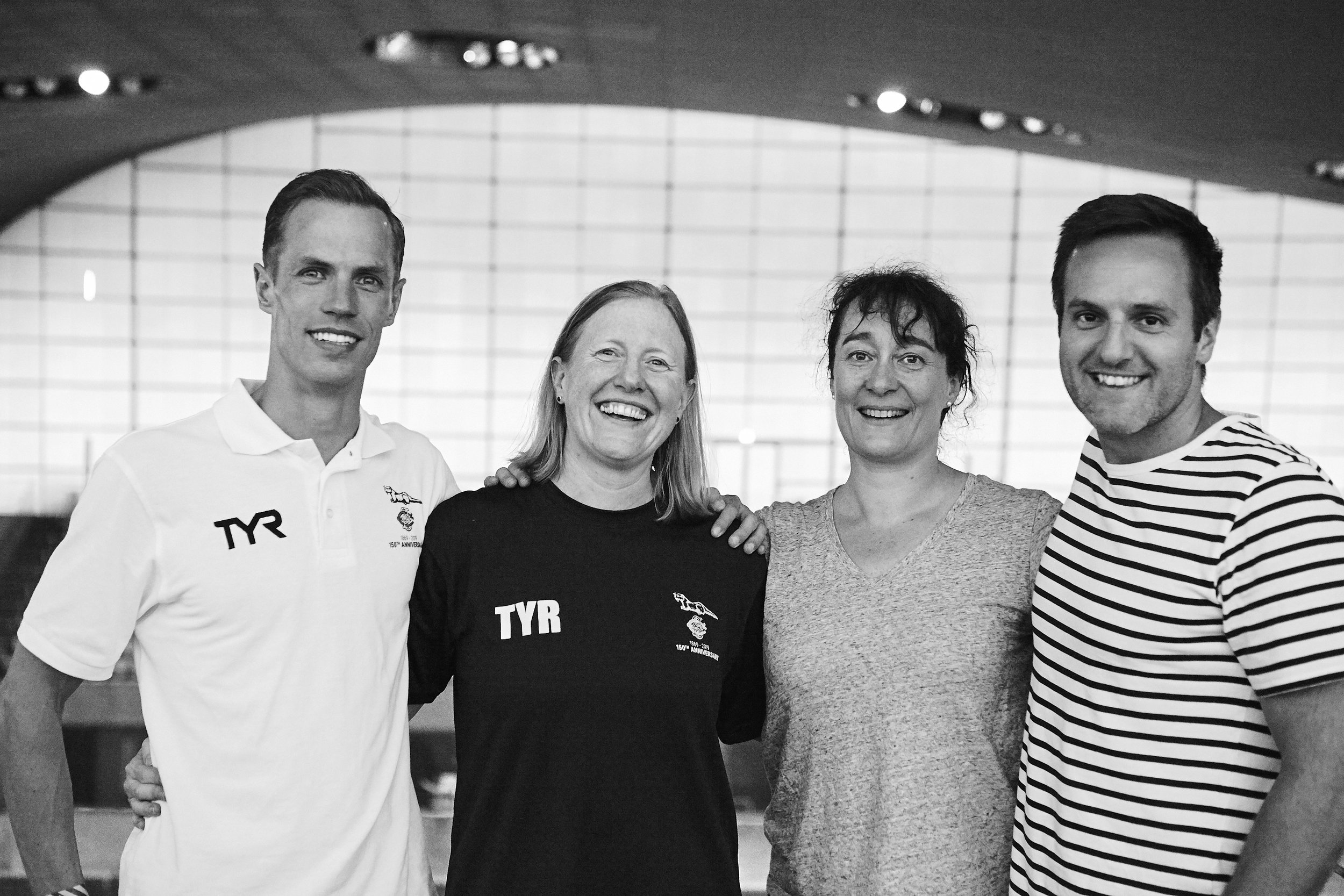 Swimming Organising Committee (L-R): Ollie Caldwell, Gina Hobson, Jane McMenemy, Ben Thomas.
