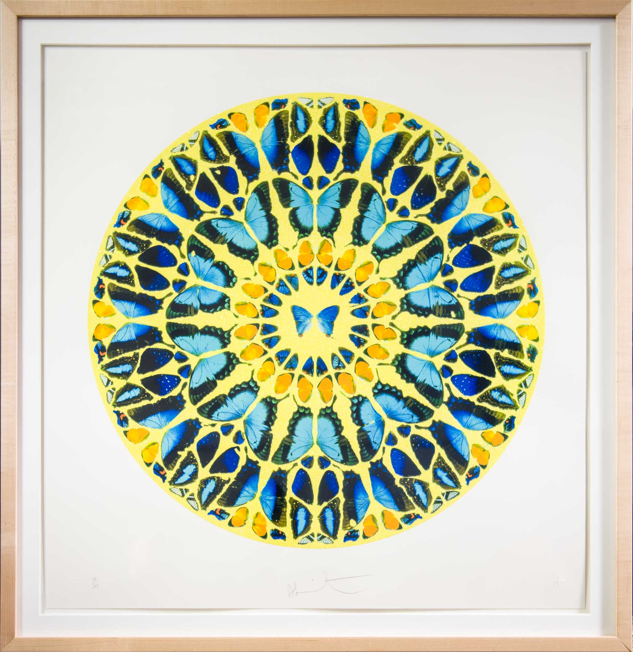 Damien Hirst, Psalm Print, Domine, in Virtue tua, 2010, Screenprint with diamond dust, Purchased through the Art Resource Trust, Polk Museum of Art Permanent Collection 2013.6.1