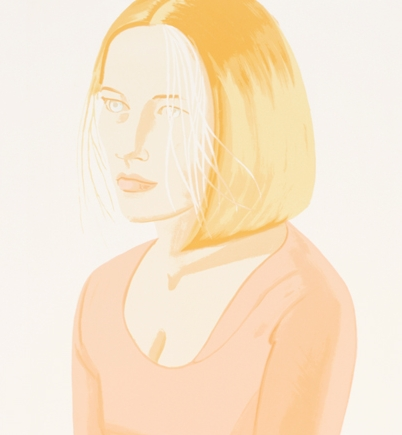 Alex Katz,  Mae , 2005, Lithograph, Graphicstudio Subscription Purchase through the Kent Harrison Memorial Acquisition Fund, Polk Museum of Art Permanent Collection 2006.20 © Alex Katz