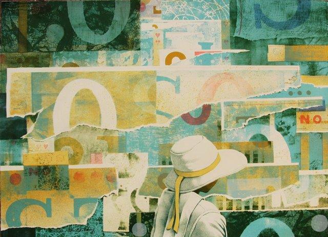 Robert Vickrey, Poster Wall , 1986, Lithograph, edition of 100, Gift of J. William Meek, III (FSC '72) & Barbara Hanson Meek (FSC '76), FP.2017.26