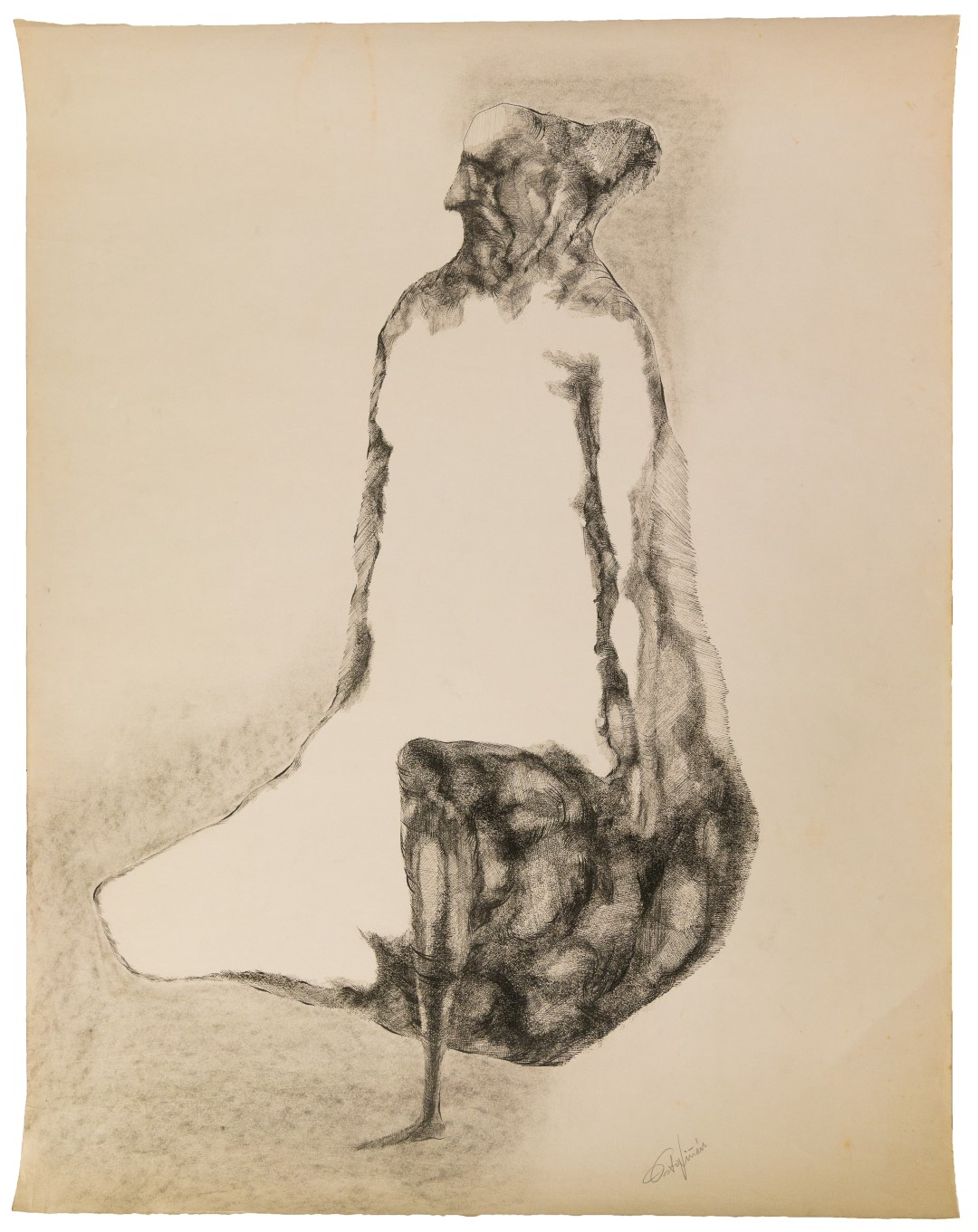 Roberto Estopiñán, Untitled (Fate), 1967, Ink and graphite on paper, Gift of Carmina Benguria in memory of the artist, Polk Museum of Art Permanent Collection 2017.2.7