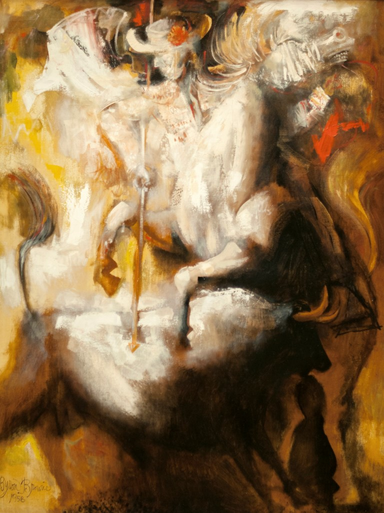 Byron Brown,  Corrida ,1958, Oil on canvas,Gift of Stephen Browne, made possible by Harmon-Meek Gallery