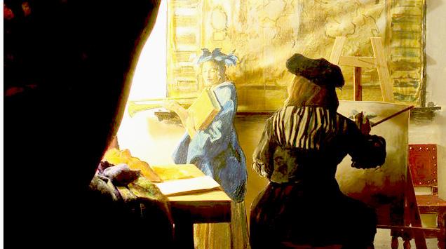 Richard Haas,  Vermeer .