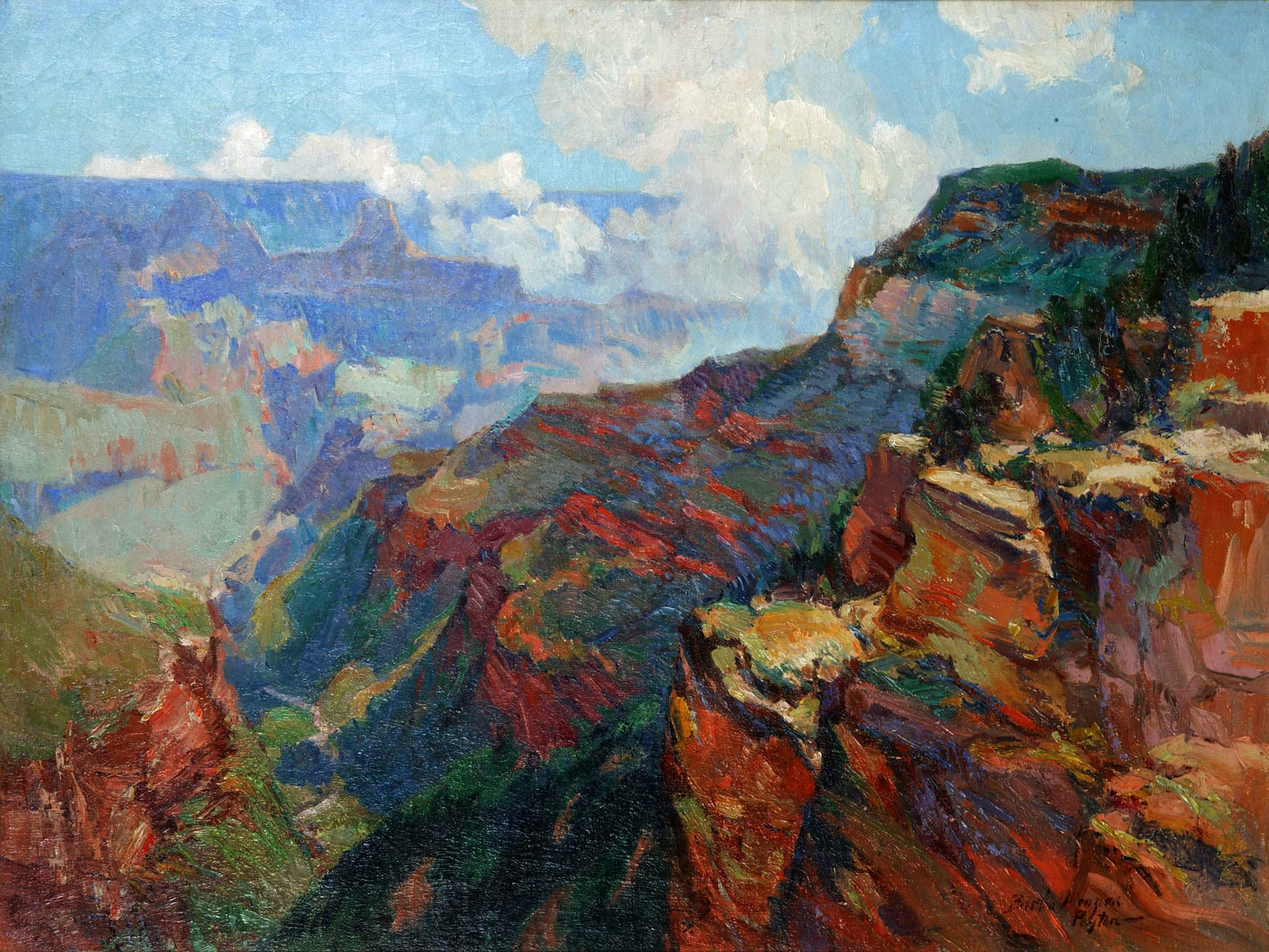 Bertha Sophia Menzler Peyton,  Grand Canyon , Oil on Canvas, Courtesy of the Huntsville Museum of Art.