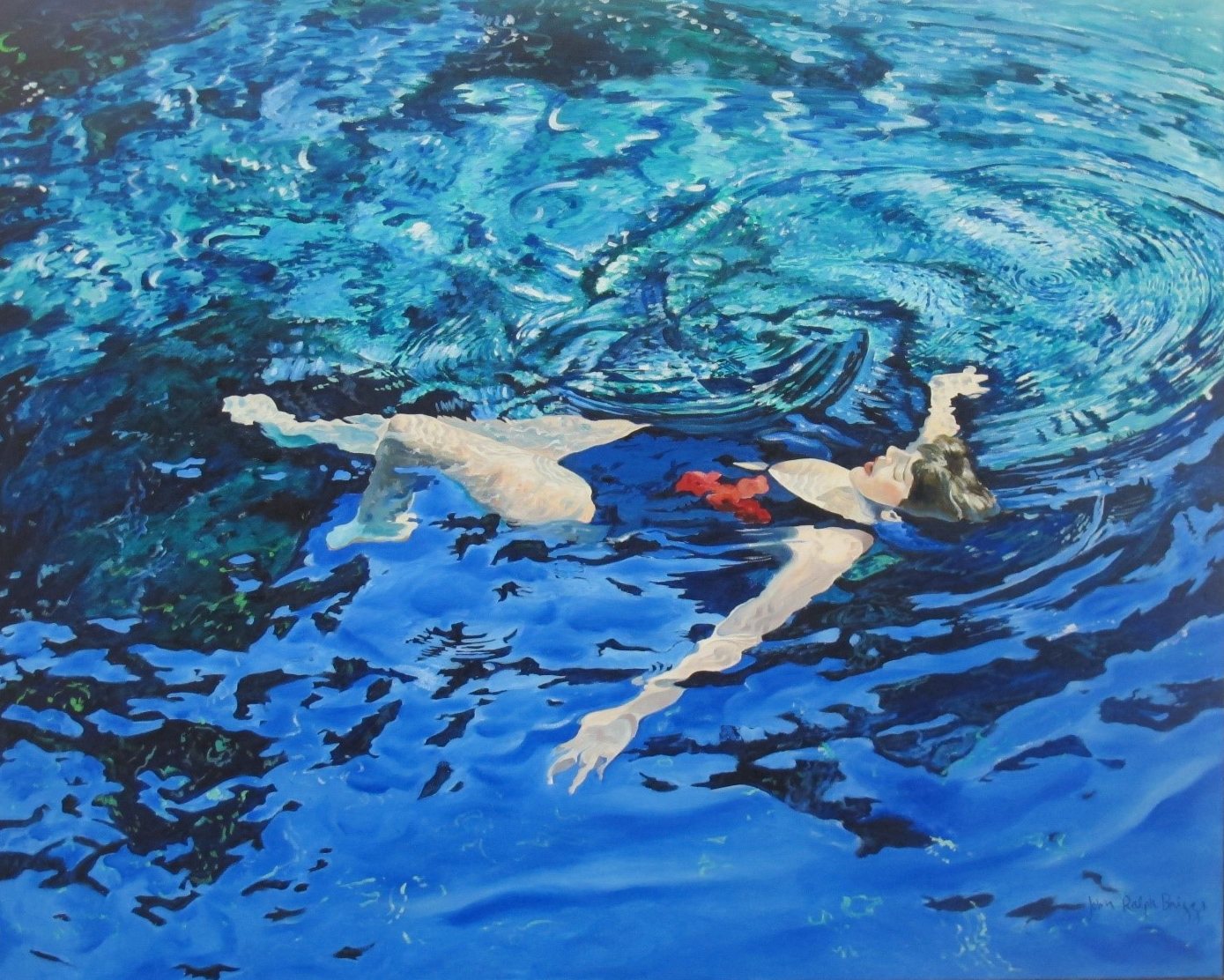 John Briggs,  Swimmer #7 , 1982, Oil on Canvas, 48 x 60 inches.