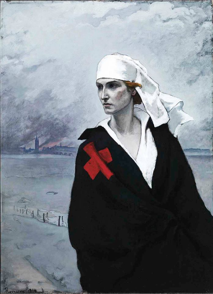 Romaine Brooks,  La France Croise  (The French Cross), 1914.
