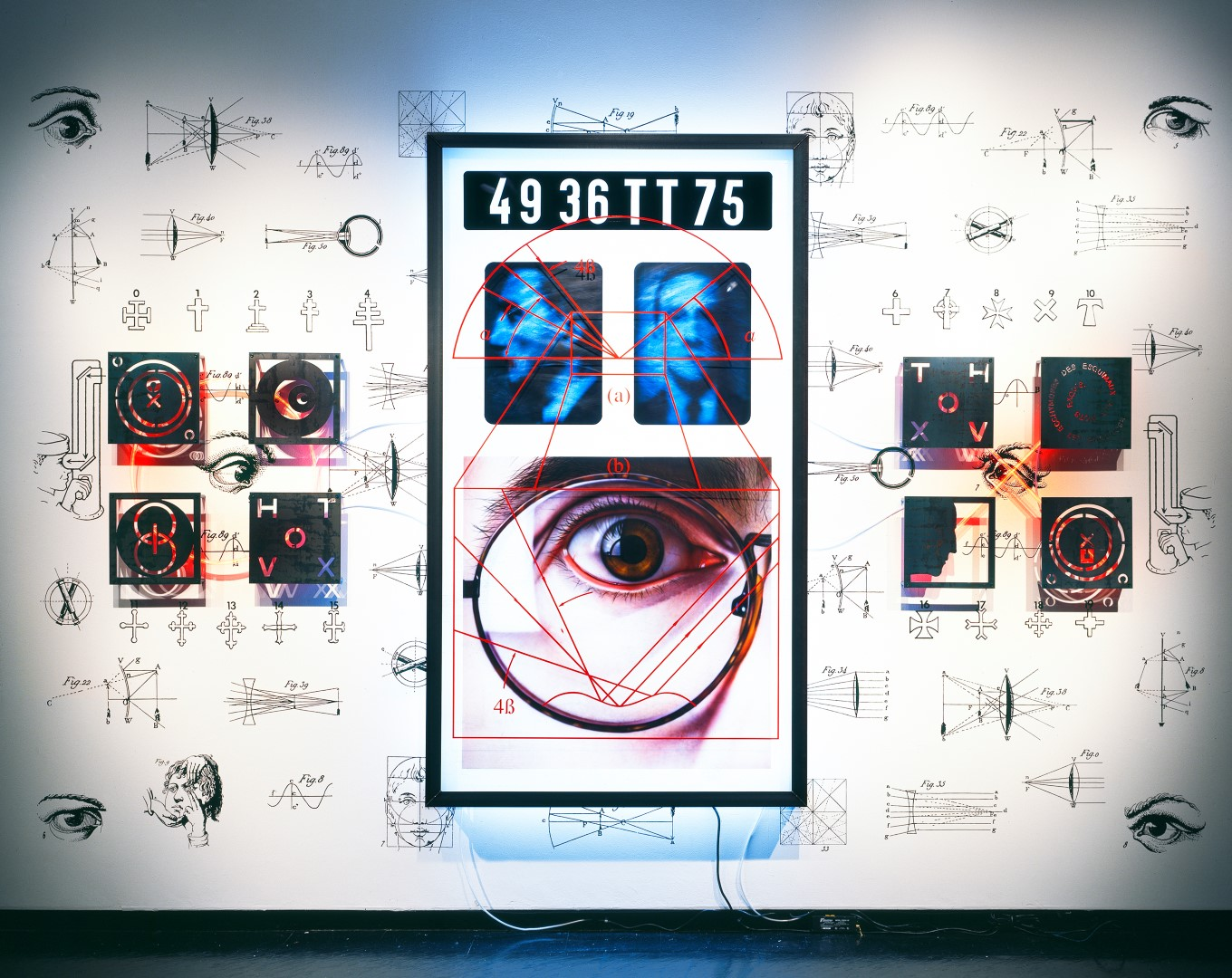 Richard Heipp, 'Cultural Strabismus: Vision Faith: Seeing Believing,' 1999, Mixed media, 192x108 inches.
