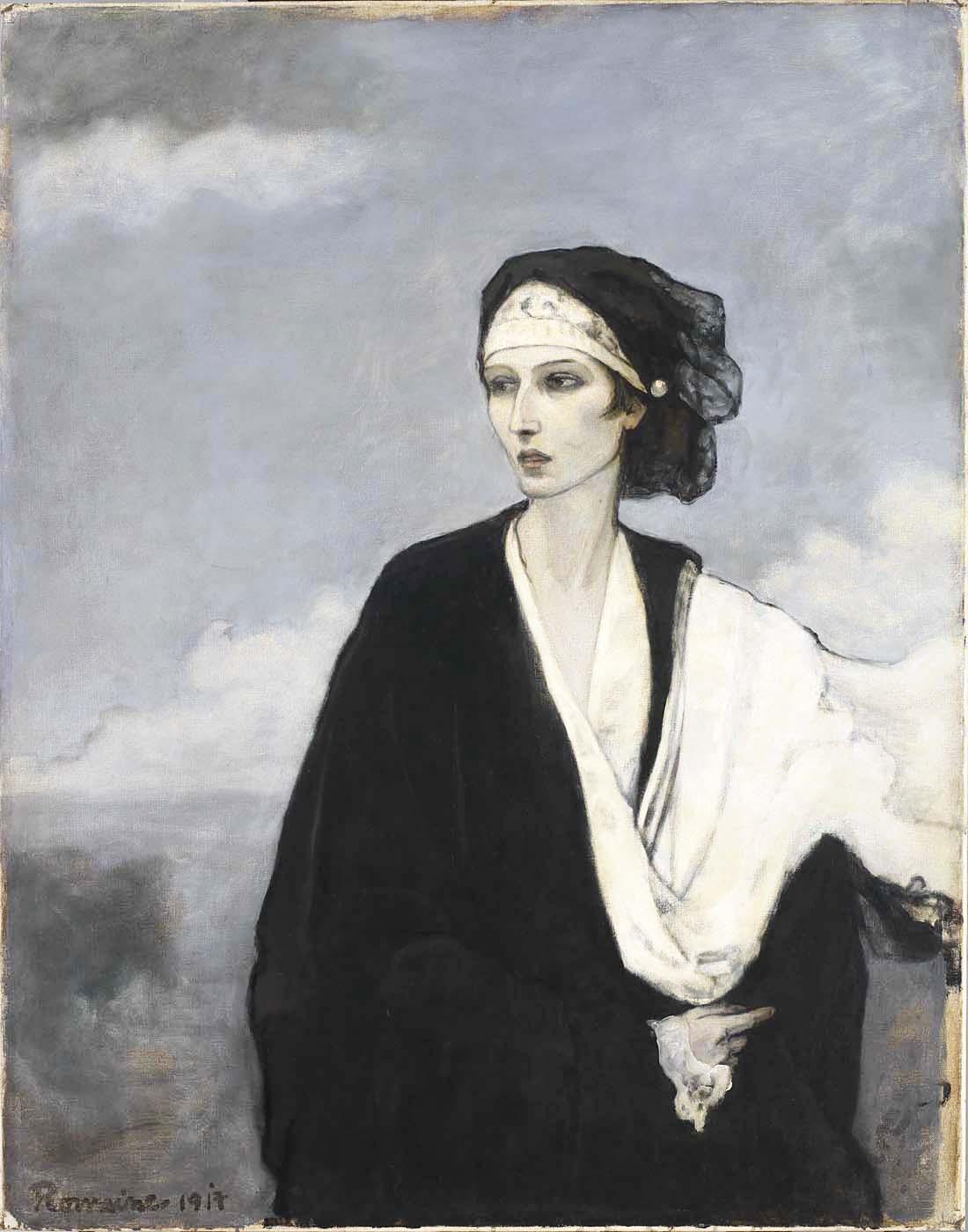 ROMAINE BROOKS, IDA RUBINSTEIN , 1917, OIL ON CANVAS, COURTESY OF THE SMITHSONIAN AMERICAN ART MUSEUM
