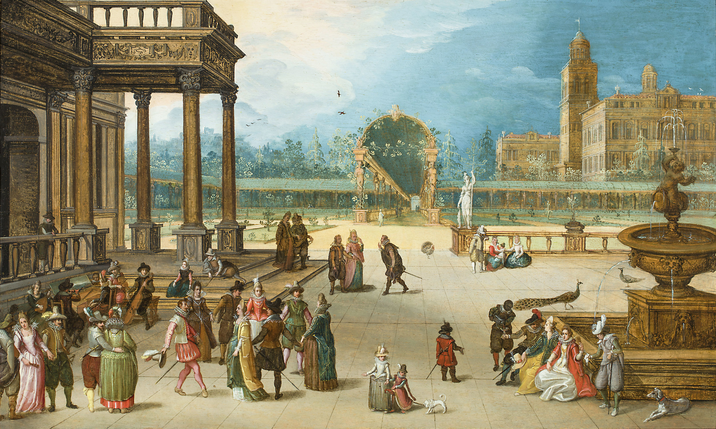 Louis de Caullery,  Palace Garden with Dancing Company and Musicians