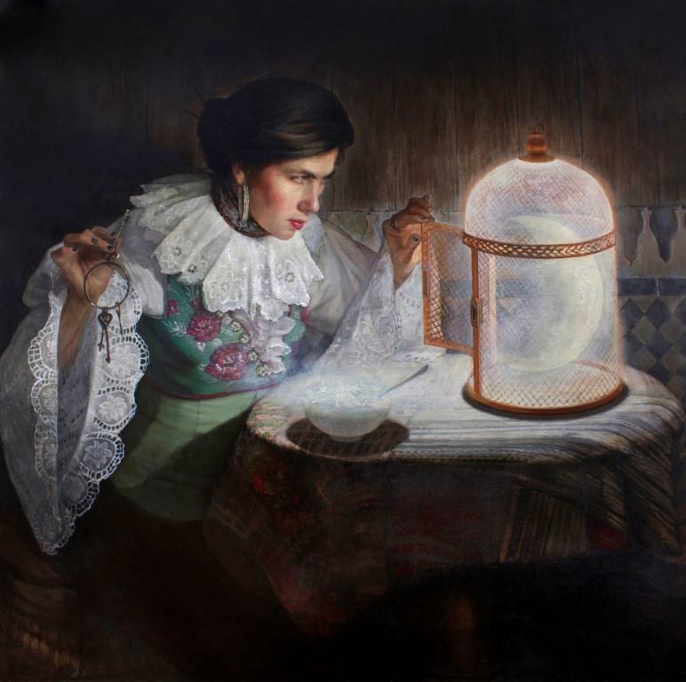 Gabriella G. Dellosso,  Varo's Moon (Self-Portrait),  2014