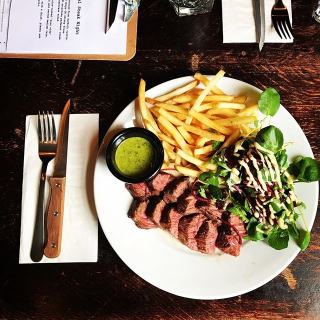 ONGLET. TONIGHT. FULLY BOOKED. MAYBE A COUPLE LEFT FOR WALK-INS. CAPS LOCK. That's better. We also have fat chips available.