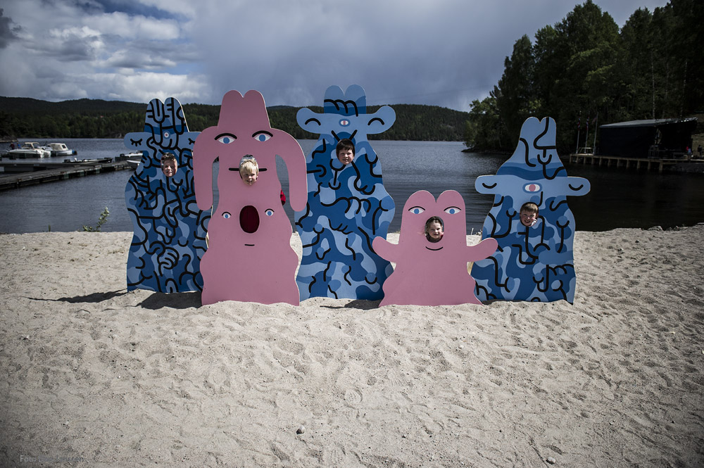 Luke Ramsey art project. Photo: Dag Jensen
