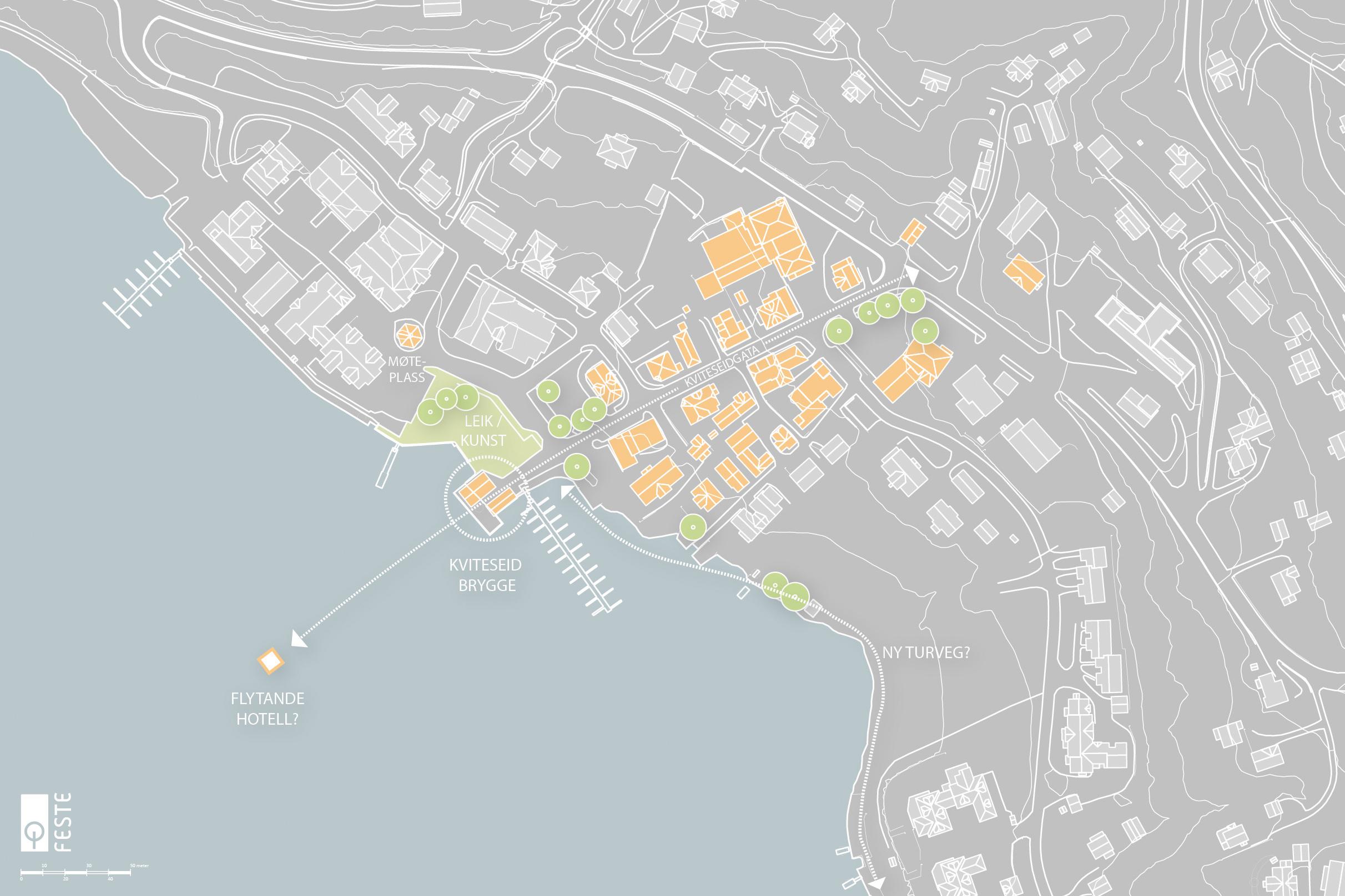 Utvikling av Kviteseidbyen
