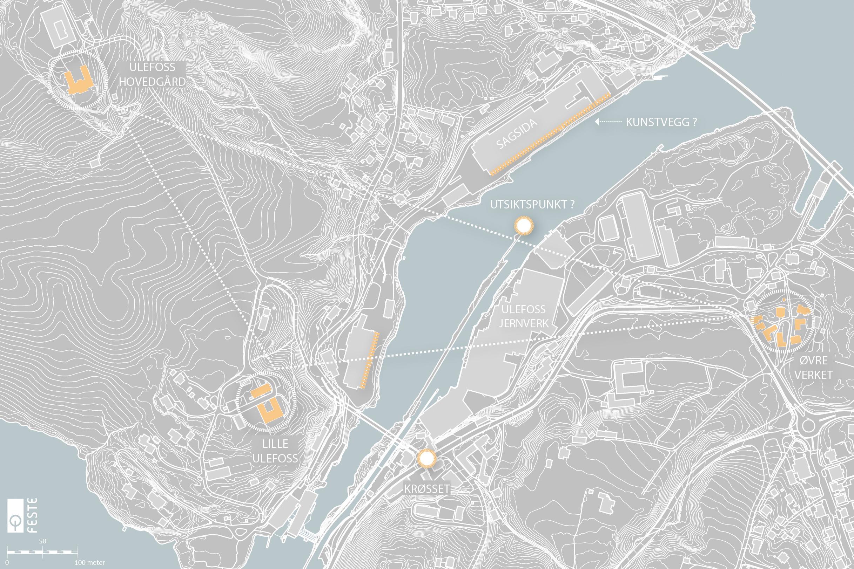Utvikling av sluseområdet på Ulefoss.