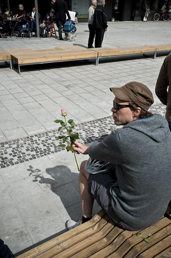 Vannrenne, rose og Marius.... (foto Dag Jenssen)