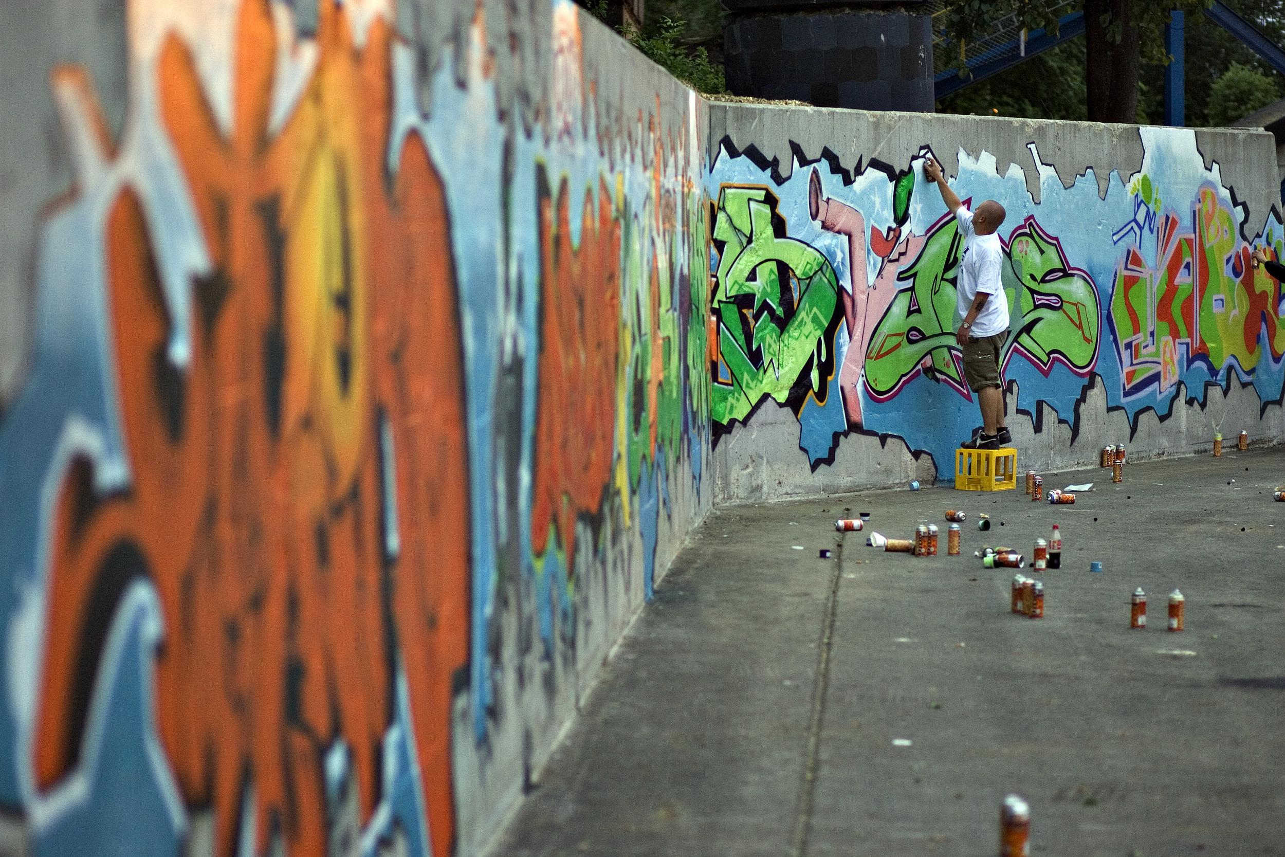 Grafittikunst på gamle betongvegger (foto Dag Jenssen)