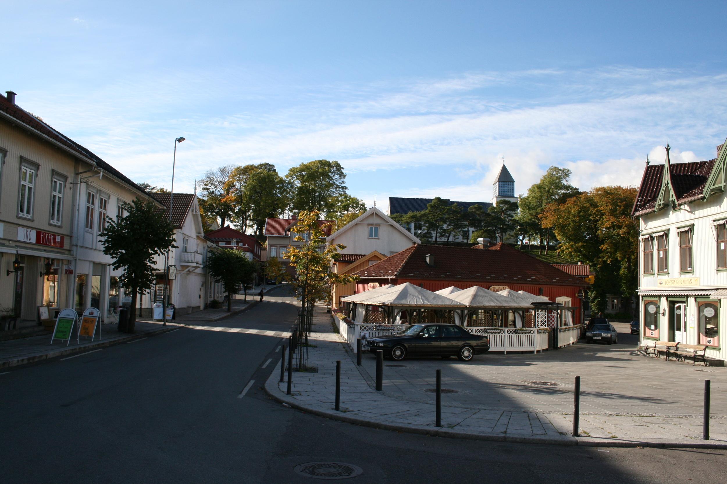 Torget i Langesund
