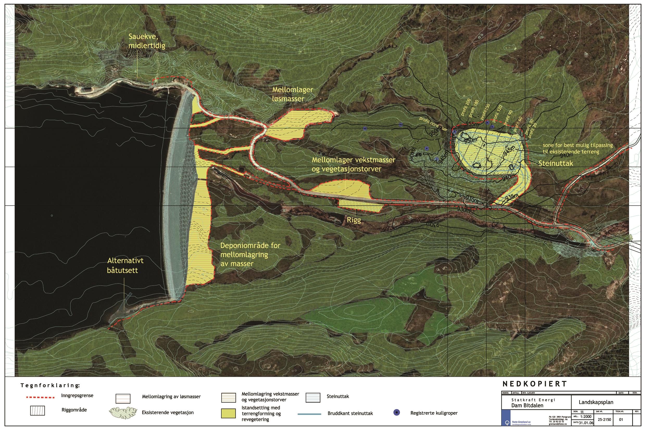 Landskapsplan for Dam Bitdalen