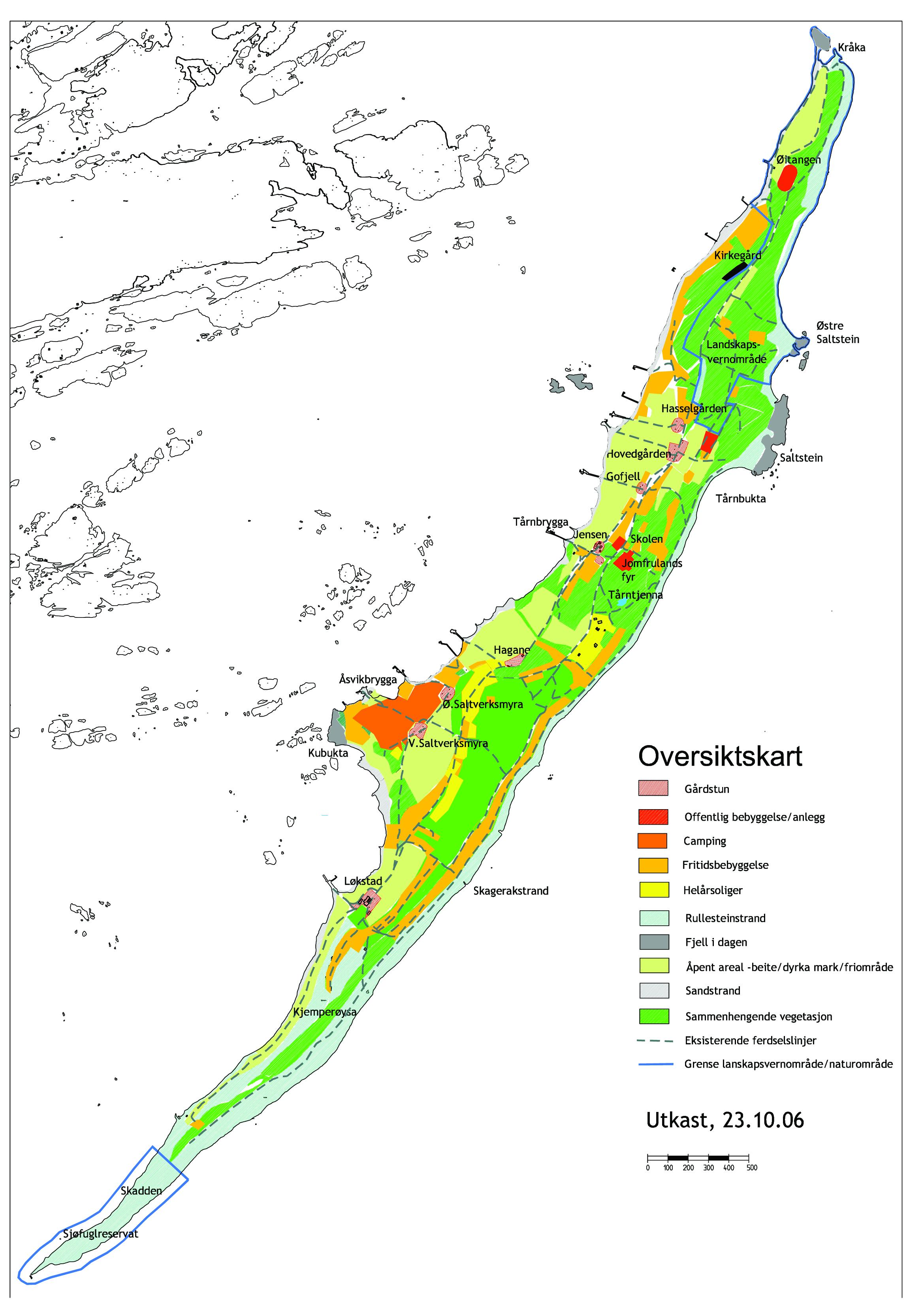 Oversiktskart kulturlandskap og bebyggelse