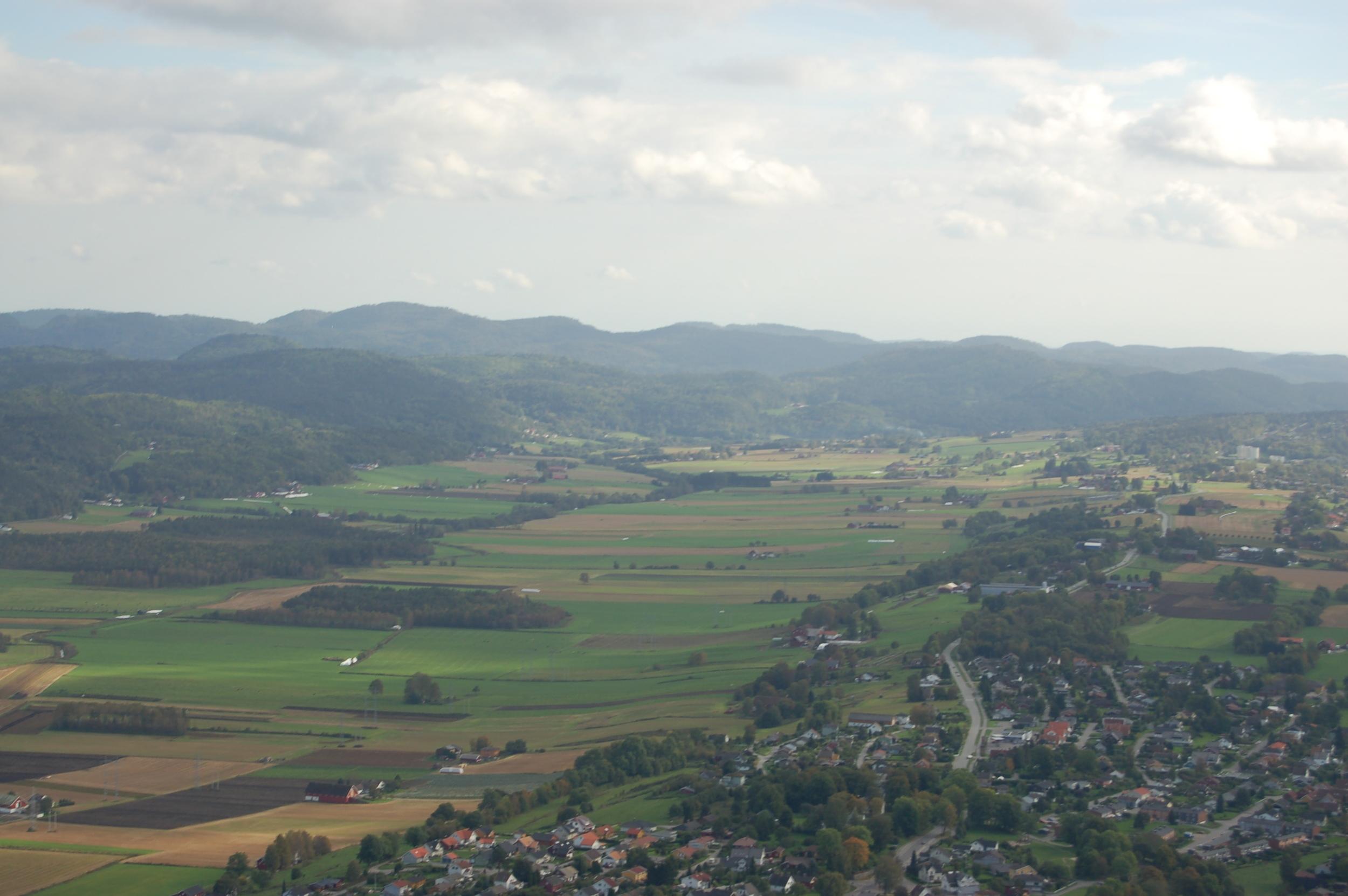 Gjerpensdalen, nasjonalt viktig kulturlandskapsområde i vassdraget