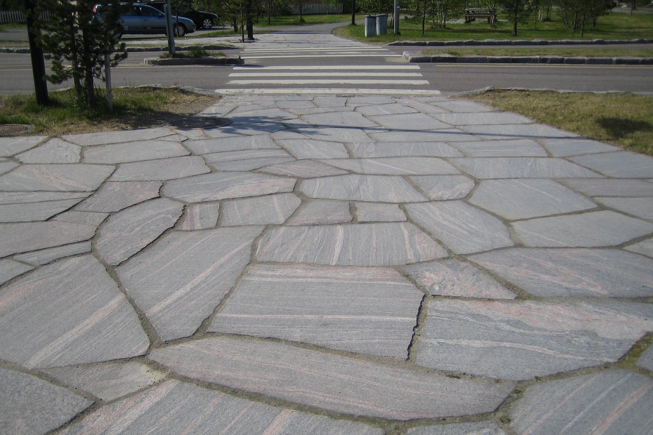 Bruk av lokal stein var et viktig utgangspunkt for formgiving